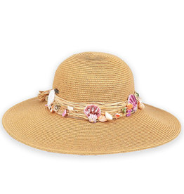 Sun N Sand Womens Hats Raffia With Seashells Hat - Natural