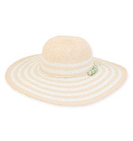 Caribbean Joe Womens Hats Floppy Straw Hat Bead Trim - Natural