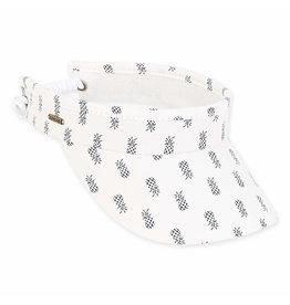 Sun N Sand Womens Hats Pineapples Cotton Coil Visor - White