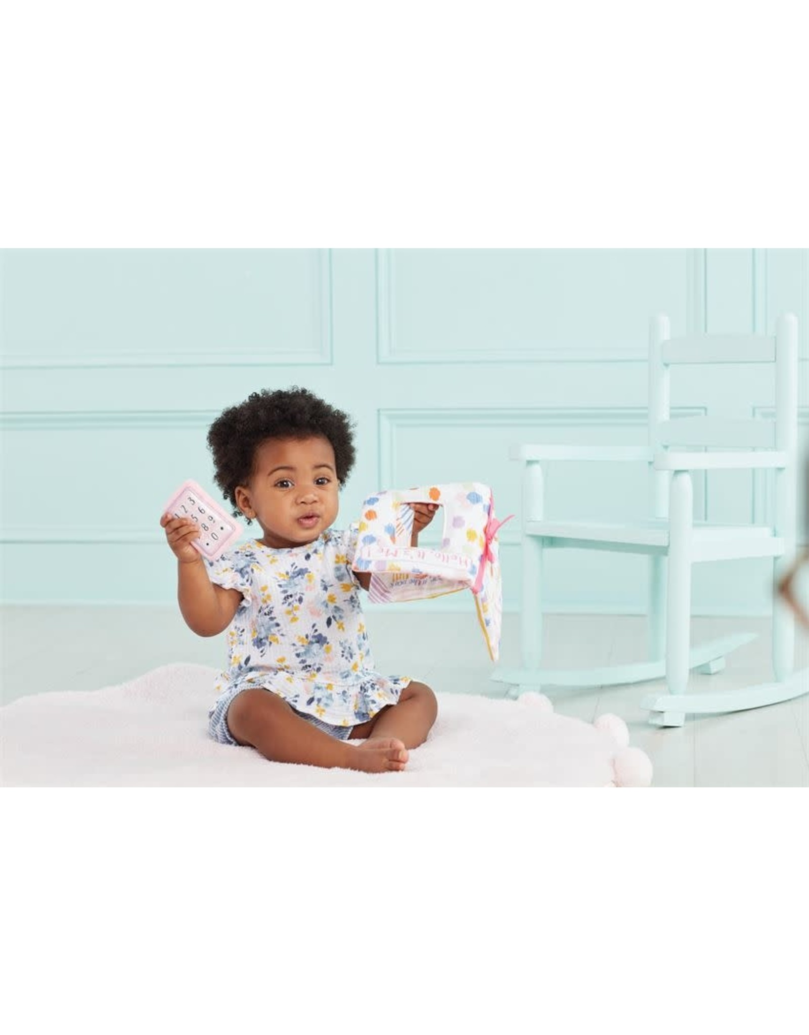 Mud Pie Baby Gifts Hello Its Me Plush Ringing Phone Book Pink