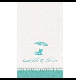 Caspari Lauderdale-By-The-Sea Guest Towel Napkins 18pk Beach Chair