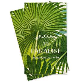 Caspari Lauderdale-By-The-Sea Guest Towel Napkins 18pk Paradise