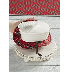 Mud Pie Beaded Trivet With Pot Holder Set