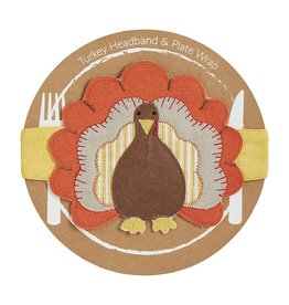 Mud Pie Thanksgiving Turkey Headband Plate Wrap - O