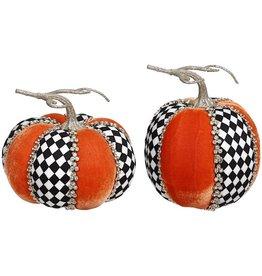 Mark Roberts Fall Decor Gemmed Harlequin Pumpkins 2 Assorted
