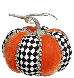 Mark Roberts Fall Decor Gemmed Harlequin Pumpkin Short 6 Inch