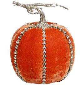Mark Roberts Fall Decor Gemmed Couture Pumpkin Tall 7 Inch