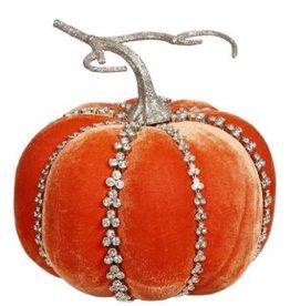 Mark Roberts Fall Decor Gemmed Couture Pumpkin Short 6 Inch