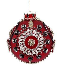 Kings Jewel Ball Ornament 5 Inch RED