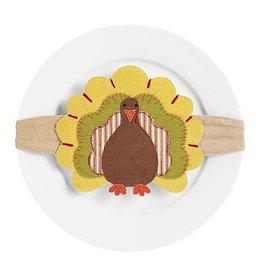 Mud Pie Thanksgiving Turkey Headband Plate Wrap - Y