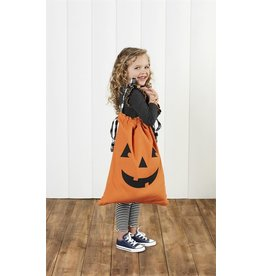 Mud Pie Halloween Pillow Case Candy Bag - Pumpkin