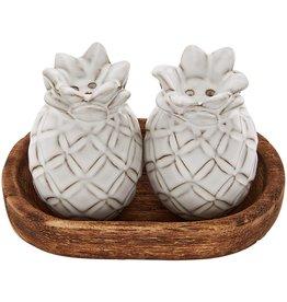 Mud Pie Pineapple Salt And Pepper Shakers Set