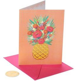 PAPYRUS® Birthday Card Pineapple Floral On Orange