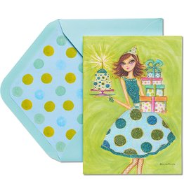 PAPYRUS® Birthday Card Girl In Polka Dot Dress By Bella Pilar