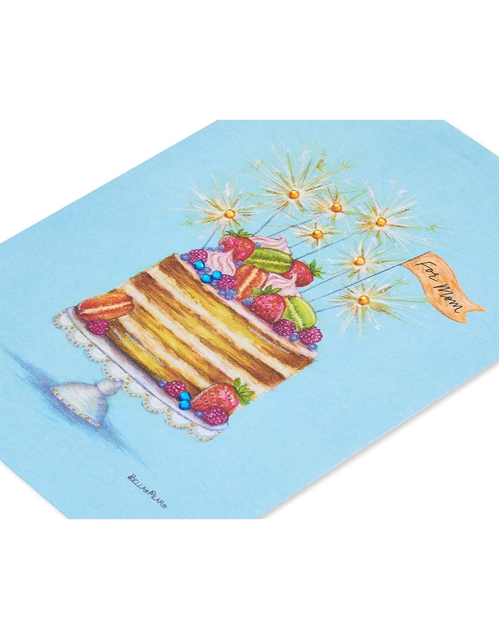 PAPYRUS® Birthday Card For Mom Sparkler Cake By Bella Pilar