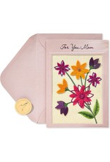 PAPYRUS® Birthday Card For Mom A Loving Wish Embroidered Flowers