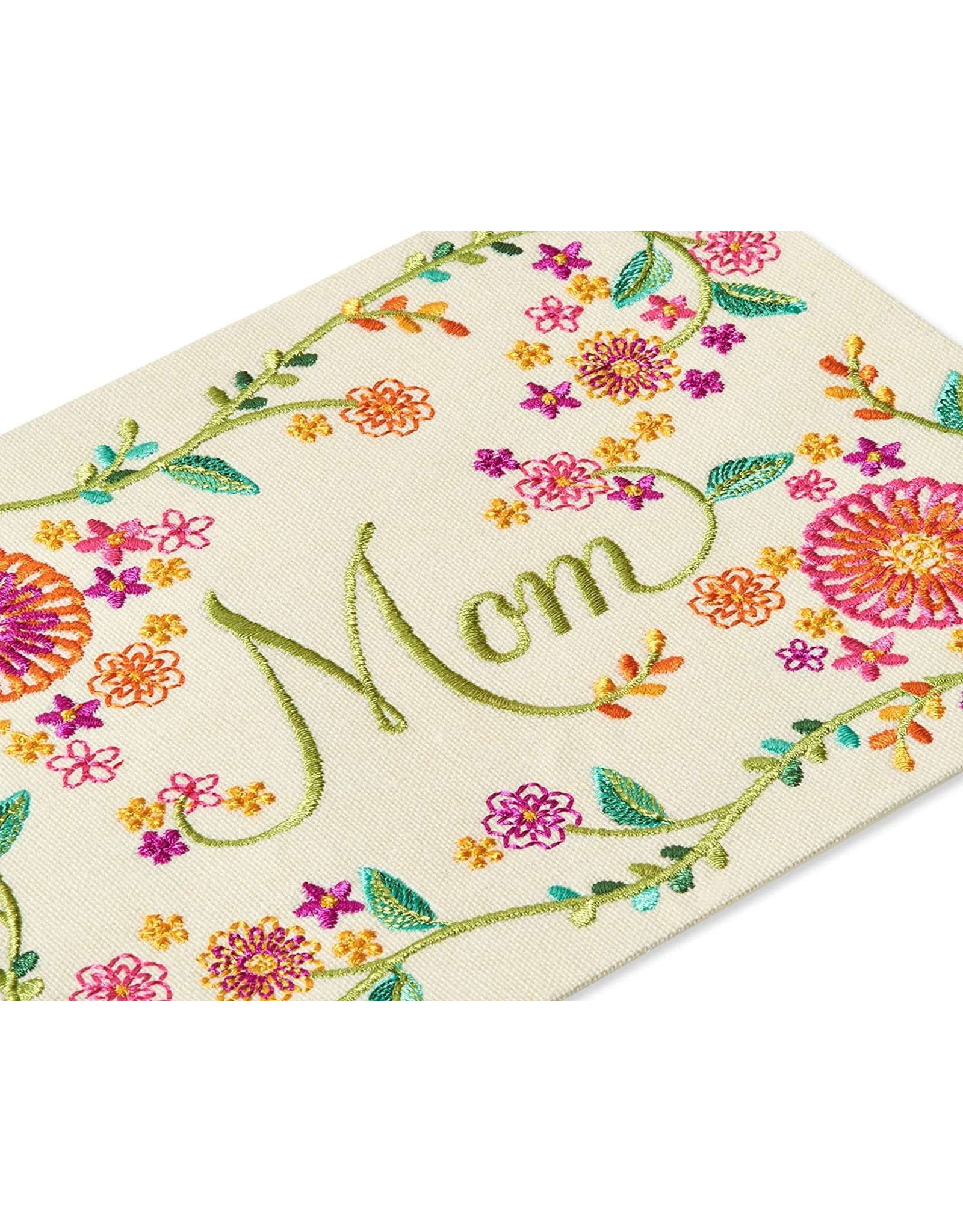 PAPYRUS® Birthday Card For Mom Embroidered With Flowers