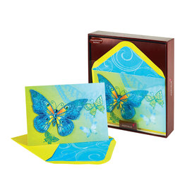 PAPYRUS® Handmade Boxed Notes Set of 8 Gemmed Cool Butterfly