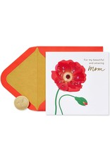 PAPYRUS® Birthday Card For Mom Red Poppy Amazing Mom