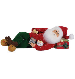 Karen Didion Popcorn And A Movie Santa Christmas Decor