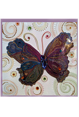 PAPYRUS® Blank Card Dotted Butterfly Paisley
