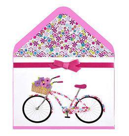 PAPYRUS® Blank Card Bike With Basket Of Flowers