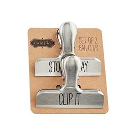 Mud Pie Chip Bag Clips Set of 2 - Stow Away - Clip It