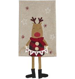 Mud Pie Christmas Dangle Leg Towels - Reindeer Deer