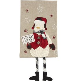 Mud Pie Christmas Dangle Leg Towels - Snowman