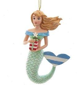 Kurt Adler Whimsical Mermaid Ornaments Blue n Green w Gift