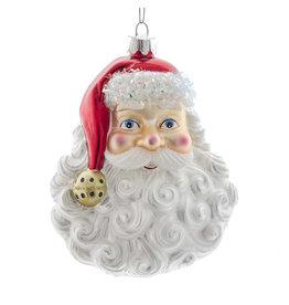 Kurt Adler Nobel Gems Glass Santa Head Ornament