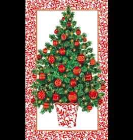 Caspari Decorated Tree Christmas Match-Box With 40 Match Sticks