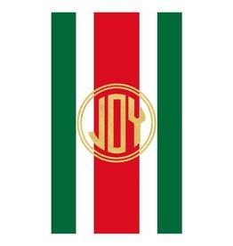 Caspari Firenze Stripe Joy Christmas Match-Box With 40 Match Sticks