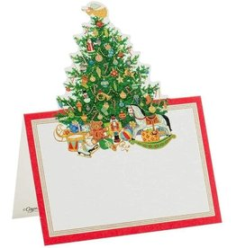 Caspari Christmas Place Cards Tent Style 8pk Oh Christmas Tree