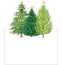 Caspari Christmas Place Cards Tent Style 8pk Christmas Tree w Lights