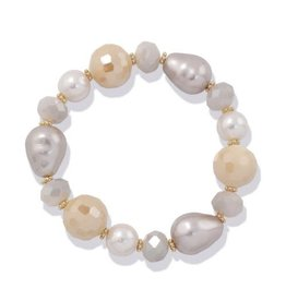 Periwinkle by Barlow Bracelet Pearlized Taupe Beads