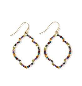 Periwinkle by Barlow Multi-color Crystal Drops Earrings