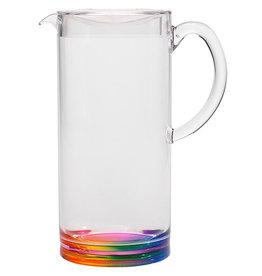 Merritt International Acrylic Rainbow Teardrop Pitcher 1.6 Quart