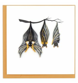 Quilling Card Quilled Halloween Card With Hanging Bats