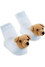 Mud Pie Baby Gifts Blue Dog Rattle Toe Socks