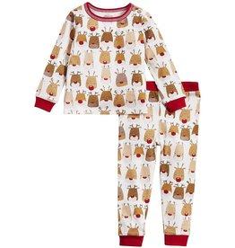 Mud Pie Kids Gifts Reindeer Pajamas 9-12 Months