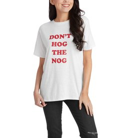 Mud Pie Holiday Graphic Tees Dont Hog The Nog T-Shirt S-M