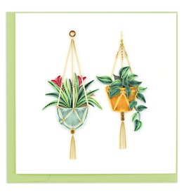 Quilling Card Quilled Macrame Plant Hangers Greeting Card