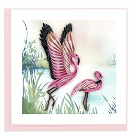 Quilling Card Quilled Flamingos Greeting Card
