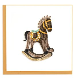 Quilling Card Quilled Rocking Horse Greeting Card