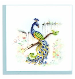 Quilling Card Quilled Posing Peacock Greeting Card