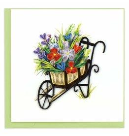 Quilling Card Quilled Wheelbarrow Garden Greeting Card