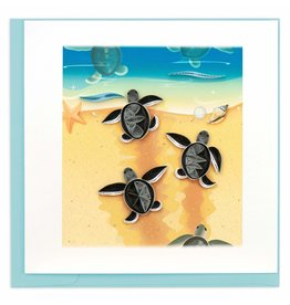 Quilling Card Quilled Sea Turtle Hatchlings Greeting Card