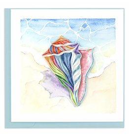 Quilling Card Quilled Rainbow Conch Shell Greeting Card