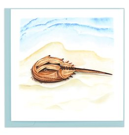Quilling Card Quilled Horseshoe Crab Greeting Card